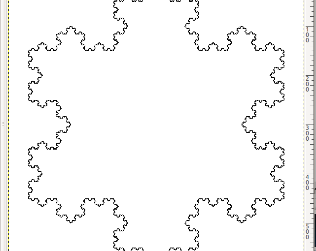 Drawing The Koch Snowflake Fractal WithGIMP